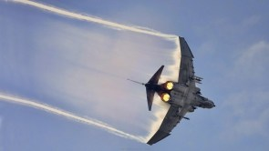 F-4 Phantom using full afterburner
