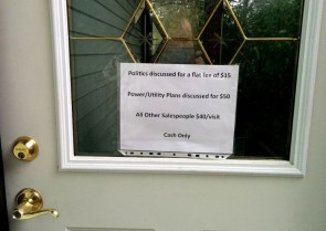 Front door flyer