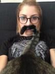 cat tail mustashe