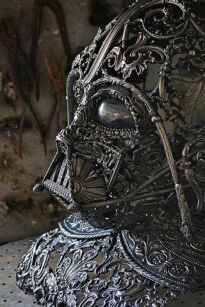 darth vader mask is arty