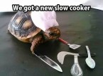 we got a new slow cooker