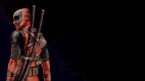 Deadpool with a stitched costume