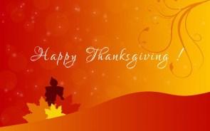 Happy Thanksgiving Wallpaper –  Orange