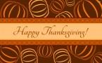 Happy Thanksgiving Wallpaper – Spiral Pumpkins