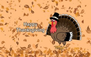 Happy Thanksgiving Wallpaper – Turkey and Leaves
