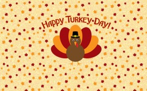 Happy Thanksgiving Wallpaper – chibi turkey