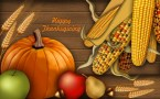 Happy Thanksgiving Wallpaper – food and acorn and wheat