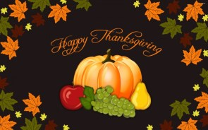 Happy Thanksgiving Wallpaper – fruits and leaves