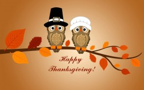 Happy Thanksgiving Wallpaper – owls