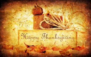 Happy Thanksgiving Wallpaper – pinecones