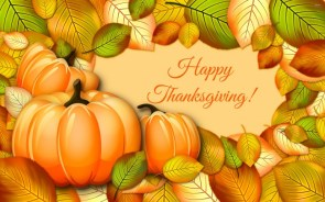 Happy Thanksgiving Wallpaper – pumpkin and leaves
