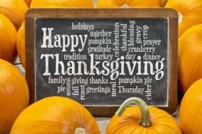 Happy Thanksgiving Wallpaper – word cloud