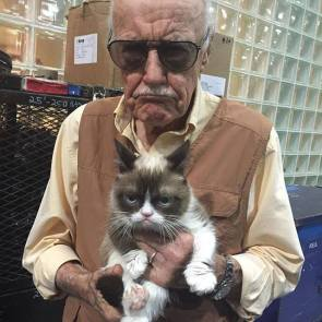 Stan Lee and Grumpy Cat