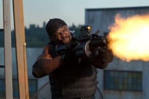 Terry Crews with a Huge Gun