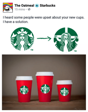 The Oatmeal fucks with Starbuck's Trademark and Logo