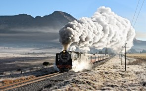iced steam train