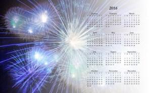 2016 Firework Calendar