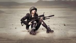 GIrl Desert Soldier