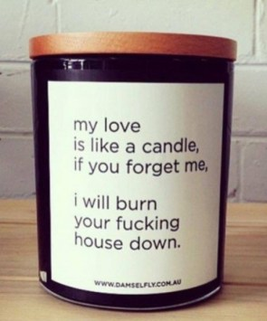 My love is like a candel