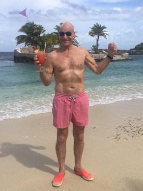 Patric Stewart on the beach