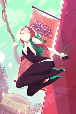 Spider-Gwen at the Heroes Convention
