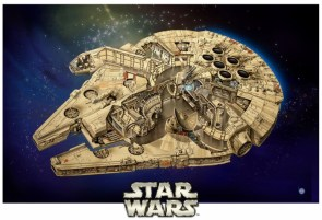 Star Wars Cut away of the Millenium Falcon