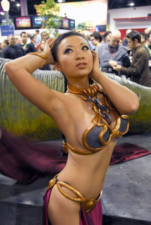 Yaya Han as Slave Leia