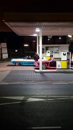 christmas car fuel up