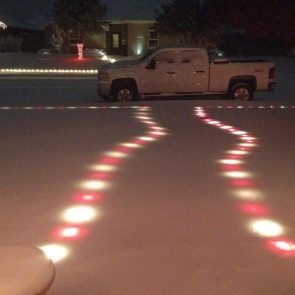 christmas snow lights