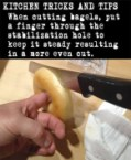 how to cut a bagel