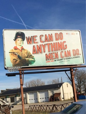 we can do anything men can do – like die