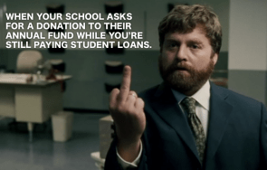 when your schools asks for donations