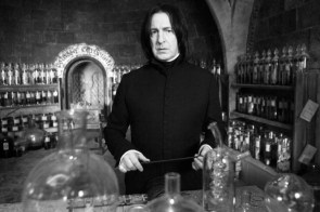 Alan Rickman in his laboratory