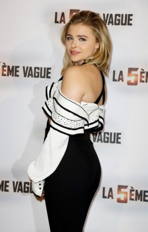 Chloe Moretz from the side