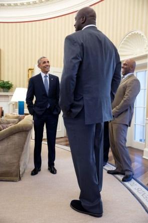 Obama vs Shaq – P022715PS-0779