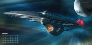 Universe Publishing Star Trek Ships of the Line 2017 calendar September