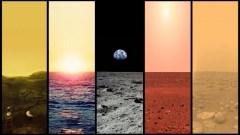 Venus, Earth, Moon, Mars, Titan