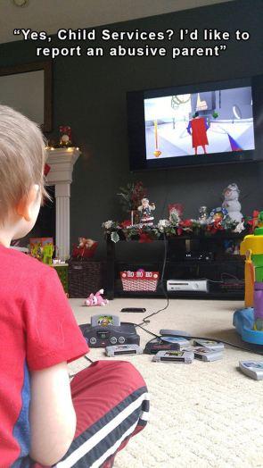 abusive gaming parent