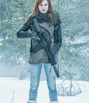 armed in the snow