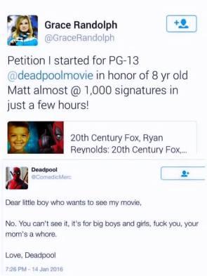 deadpool pg-13 petition