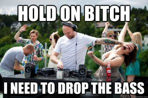 hold on bitch I need to drop the bass