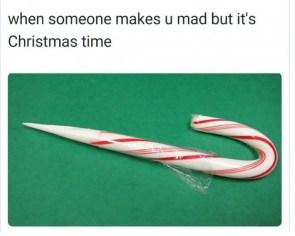 mad at christmas time