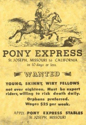 pony express – help wanted