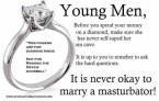 young men – fingers are for diamond rings