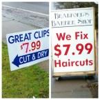 799 haircuts