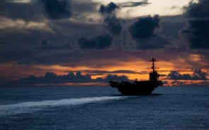 Air Craft Carrier Sunset