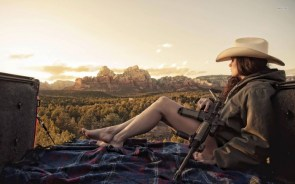 Cowgirl with AR