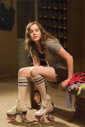 Ellen Page in roller skates