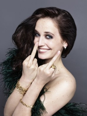 Eva green middle finger