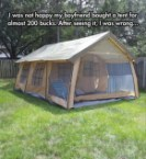 Happy 200 Dollar Tent